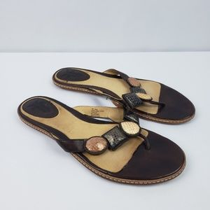 Frye Mary Jewel Thong Sandals Embellished #A